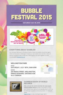 Bubble Festival 2015