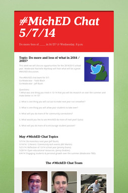 #MichED Chat 5/7/14