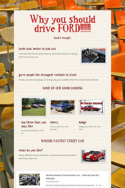 Why you should drive FORD!!!!!!!