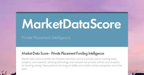 MarketDataScore