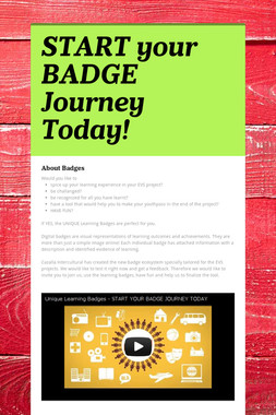 START your BADGE Journey Today!