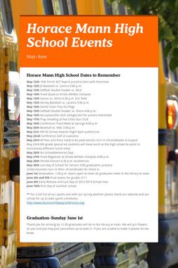 Horace Mann High School Events