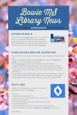 Bowie MS Library News