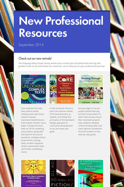 New Professional Resources