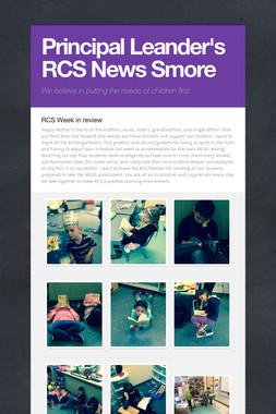 Principal Leander's RCS News Smore
