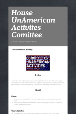 House UnAmerican Activites Comittee