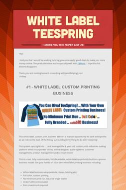 White Label Teespring