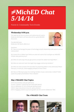 #MichED Chat 5/14/14