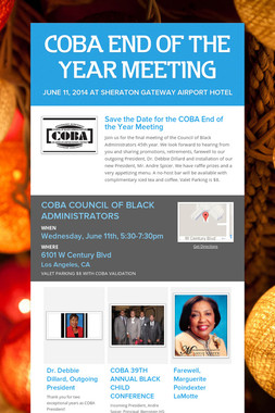 COBA END OF THE YEAR MEETING