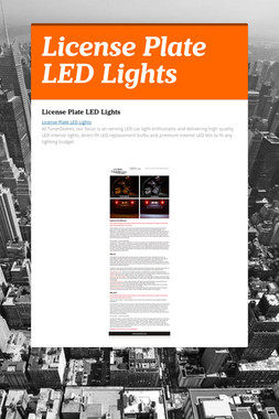 License Plate LED Lights
