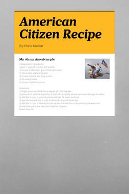 American Citizen Recipe