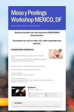 Meso y Peelings Workshop MEXICO, DF