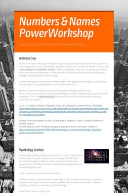 Numbers & Names PowerWorkshop