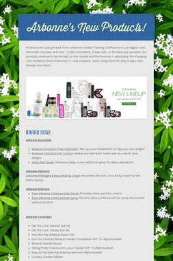 Arbonne's New Products!