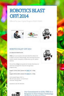 ROBOTICS BLAST OFF! 2014