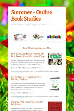 Summer - Online  Book Studies