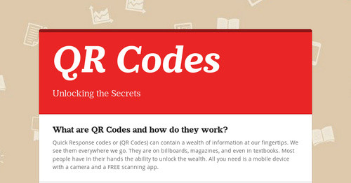 QR Codes   Smore Newsletters