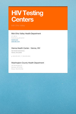 HIV Testing  Centers