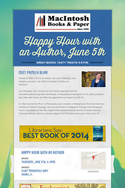 Happy Hour with an Author, June 5th
