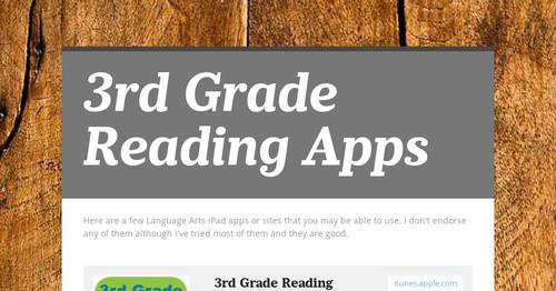 3rd Grade Reading Apps