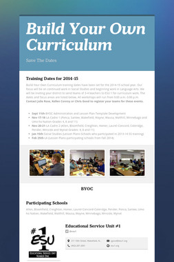 Build Your Own Curriculum