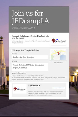 Join us for JEDcampLA
