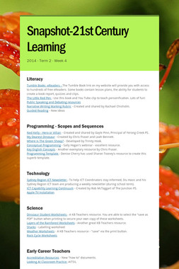 Snapshot-21st Century Learning