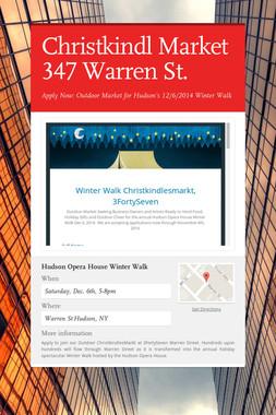 Christkindl Market 347 Warren St.