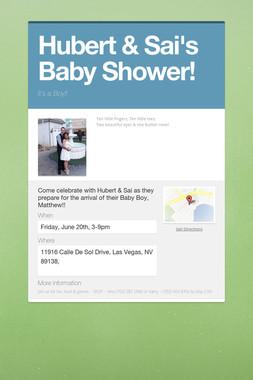 Hubert & Sai's Baby Shower!