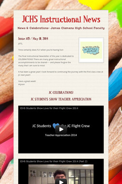 JCHS Instructional News