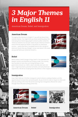 3 Major Themes in English 11