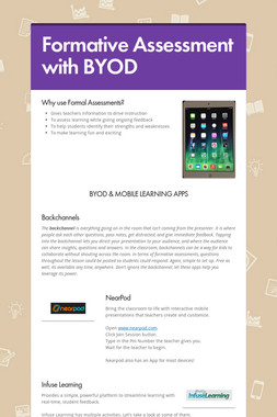Formative Assessment with BYOD