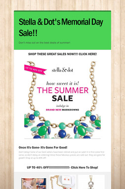 Stella & Dot's Memorial Day Sale!!