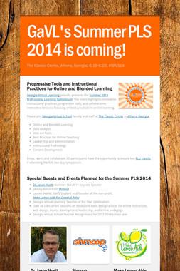 GaVL's Summer PLS 2014 is coming!