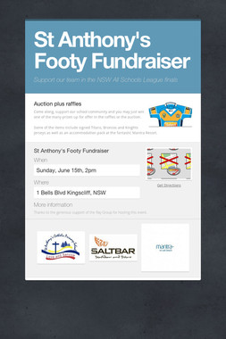 St Anthony's Footy Fundraiser