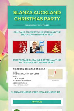 SLANZA AUCKLAND CHRISTMAS PARTY