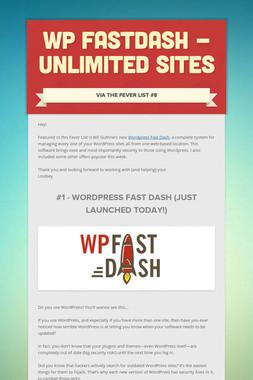 WP FastDash - Unlimited Sites