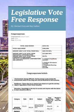 Legislative Vote Free Response