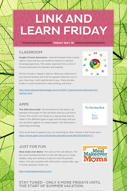 Link and Learn Friday