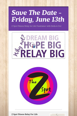 Save The Date - Friday, June 13th