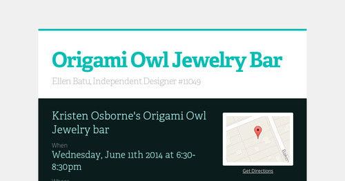 Origami Owl Jewelry Bar