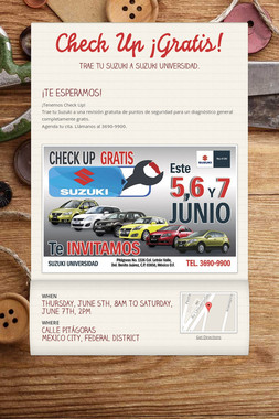 Check Up ¡Gratis!