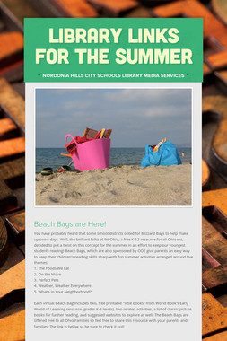 Library Links for the Summer
