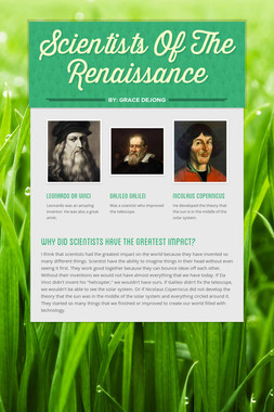 Scientists Of The Renaissance