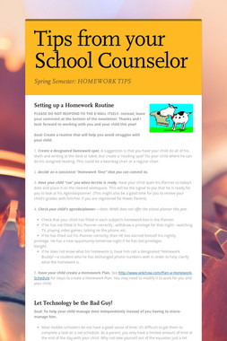 Tips from your School Counselor