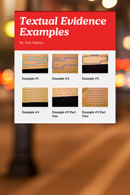 Textual Evidence Examples