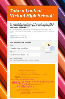 Take a Look at Virtual High School!