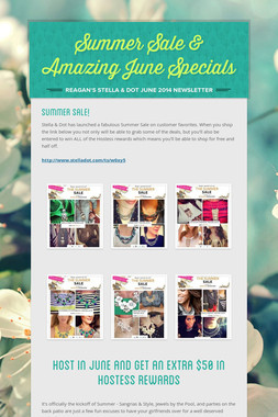 Summer Sale & Amazing June Specials