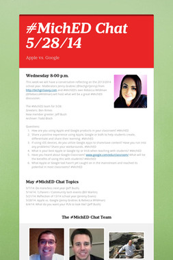 #MichED Chat 5/28/14
