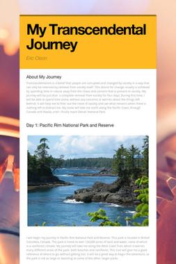 My Transcendental Journey